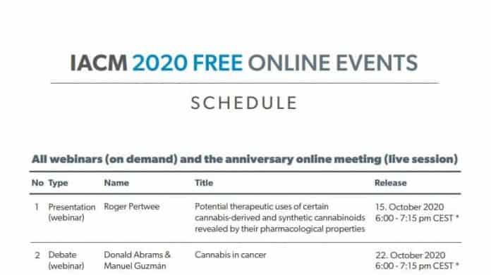webinars International Association for Cannabinoid Medicines (IACM)