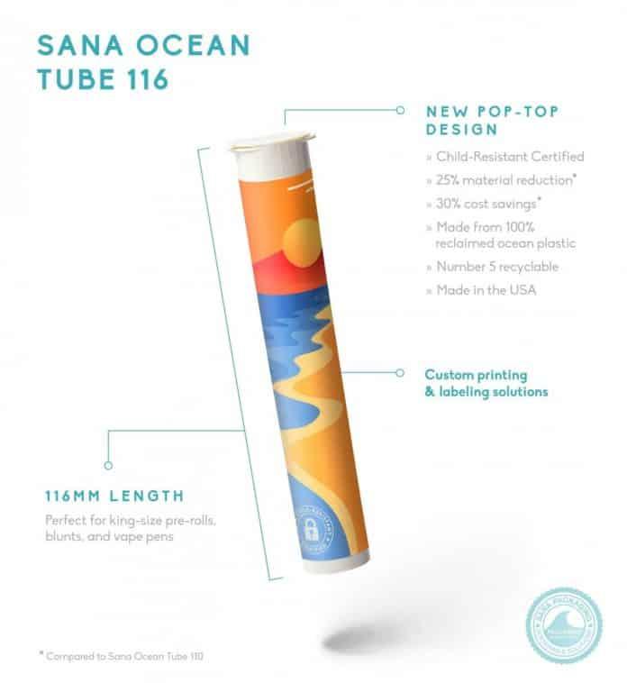 Sana Ocean Tube 116 gerecycled teruggewonnen oceaanplastic joint koker