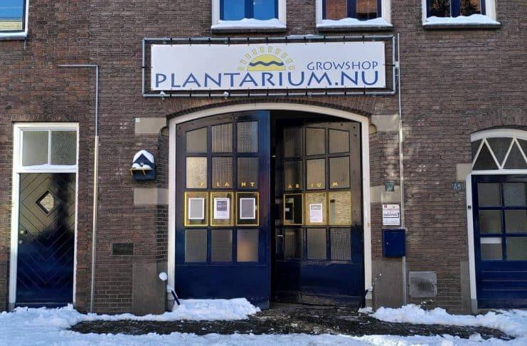 Plantarium achterkant ingang