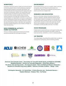 Amerikaanse werkgroep publiceert kernprincipes voor goede landelijke cannabis legalisatie