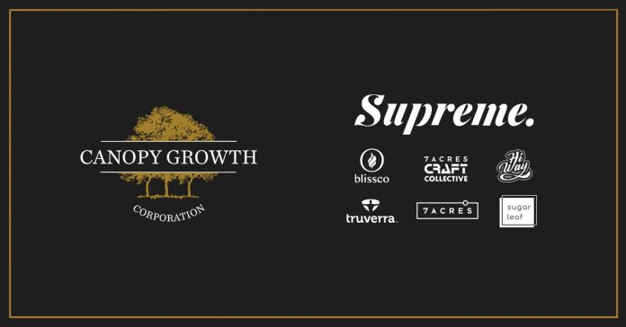 Canopy Growth Corporation overname The Supreme Cannabis Company