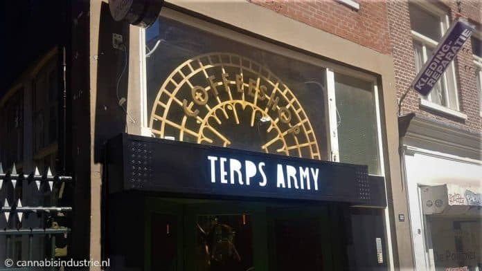 terpsarmy coffeeshop amsterdam el guapo nieuwe nieuwstraat